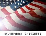 american flag background | Shutterstock . vector #341418551