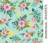 seamless floral pattern... | Shutterstock .eps vector #341425571