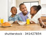casual happy family having... | Shutterstock . vector #341427854