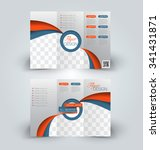 brochure mock up design... | Shutterstock .eps vector #341431871