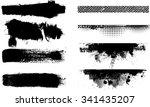 ink paint brush strokes .... | Shutterstock .eps vector #341435207