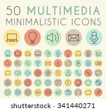 set of 50 isolated universal... | Shutterstock .eps vector #341440271