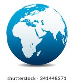 africa  middle east  arabia and ... | Shutterstock . vector #341448371