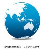 asia and australia  global... | Shutterstock . vector #341448395