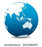 asia and australia  global... | Shutterstock . vector #341448395