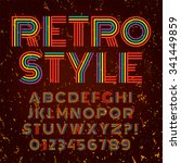 old style alphabet. retro type... | Shutterstock .eps vector #341449859