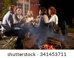 mature friends enjoying outdoor ... | Shutterstock . vector #341453711