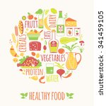 vector illustration of healthy... | Shutterstock .eps vector #341459105