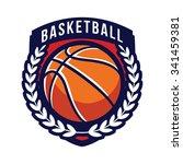 basketball logo emblem | Shutterstock .eps vector #341459381