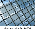 Roof of a modern building - stock photo
