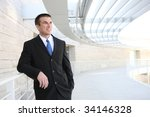 happy handsome young business... | Shutterstock . vector #34146328