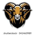 head of ram mascot   Shutterstock .eps vector #341463989