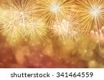 fireworks at new year and copy... | Shutterstock . vector #341464559