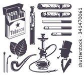 Set Of Vintage Smoking Tobacco...
