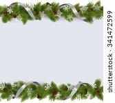 vector christmas border with... | Shutterstock .eps vector #341472599