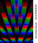 Small photo of Background based on a photograph of the diffraction spectral decomposition of white light