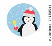 illustration of a penguin. new... | Shutterstock . vector #341505365