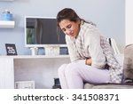 woman frowning having... | Shutterstock . vector #341508371