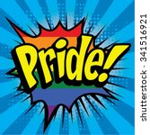 "pop art comics icon ""pride "".... 