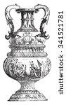Large Vase Of Delft  Vintage...