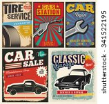 vintage retro style. set of... | Shutterstock .eps vector #341522195