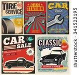 vintage retro style. set of... | Shutterstock .eps vector #341522195