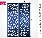 abstract die cut pattern panels.... | Shutterstock .eps vector #341535449