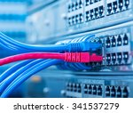 network panel  switch and cable ... | Shutterstock . vector #341537279