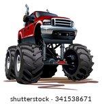 cartoon monster truck.... | Shutterstock .eps vector #341538671