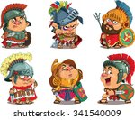 cartoon. vector.  set funny... | Shutterstock .eps vector #341540009