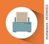 isolated retro icon design ... | Shutterstock .eps vector #341540321