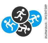 running men vector icon. style... | Shutterstock .eps vector #341547389