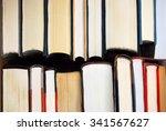 top edge view of books | Shutterstock . vector #341567627
