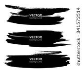 long thick black smears... | Shutterstock .eps vector #341572514