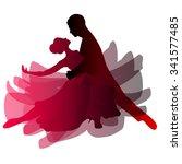 man and woman dancing tango.... | Shutterstock .eps vector #341577485