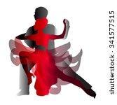man and woman dancing tango....   Shutterstock .eps vector #341577515