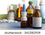 pills and bottles of cold... | Shutterstock . vector #341582939