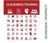 business training  icons  signs ... | Shutterstock .eps vector #341594177