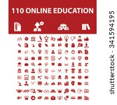 online education  learning ... | Shutterstock .eps vector #341594195