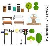 street city flat design... | Shutterstock . vector #341595029