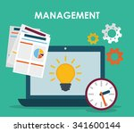 business management graphic... | Shutterstock .eps vector #341600144