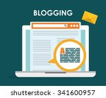 blog  blogging and blogglers... | Shutterstock .eps vector #341600957