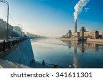 Factory In Winter Sity