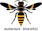 wasp  vector icon | Shutterstock .eps vector #341616521