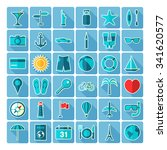 travel icons. large icons set.... | Shutterstock .eps vector #341620577