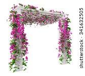 Pink Flowers Bougainvillea. 3d...