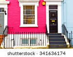 Small photo of notting hill in london england old suburban and antique wall door