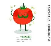 bright cartoon style vegetable...   Shutterstock .eps vector #341643911