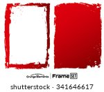 grunge frame texture set  ... | Shutterstock .eps vector #341646617