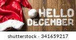 hello december written on... | Shutterstock . vector #341659217